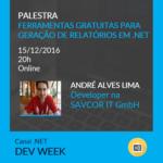 Apresentação DevWeek 2016 – Ferramentas gratuitas para geração de relatórios no .NET
